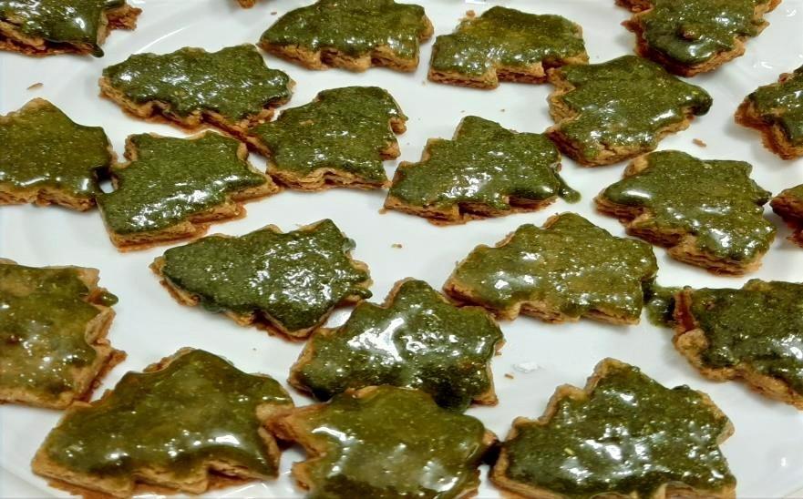 Galletas hechos con Moringa NaturaLeaf; perfectos para las Navidades o cualquier otra ocasión.