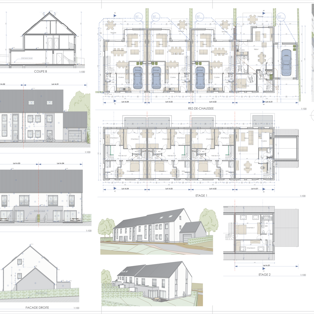 A4.02.1 LOT A - PLANS, COUPES ET FACADES