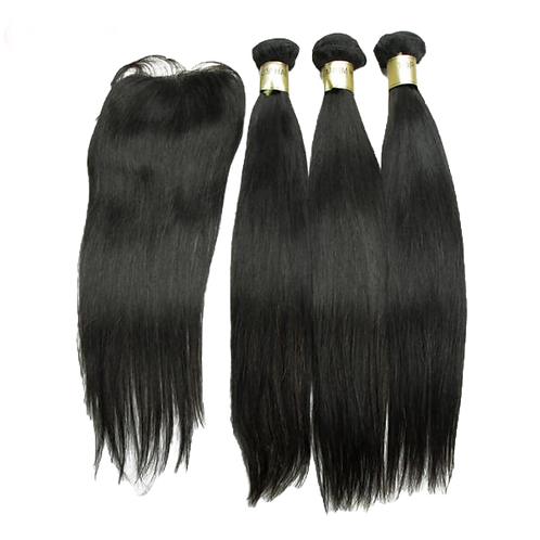 3 PCS Lot 12A Closure Free Shipping Hair Straight Hair