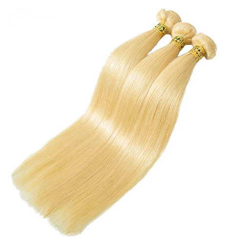 10A Straight Blonde Hair Weft Fast Shipping 2 Days Reach USA
