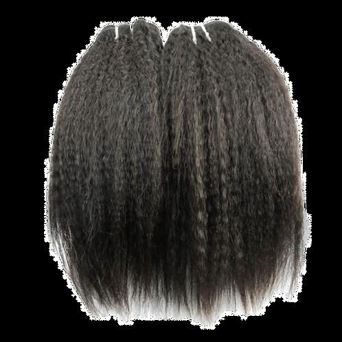Kinky Straight 100% Unprocessed Virgin Human Hair