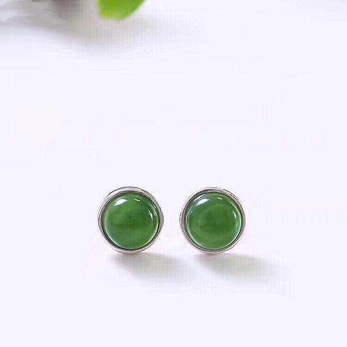 Jade studs earring for men