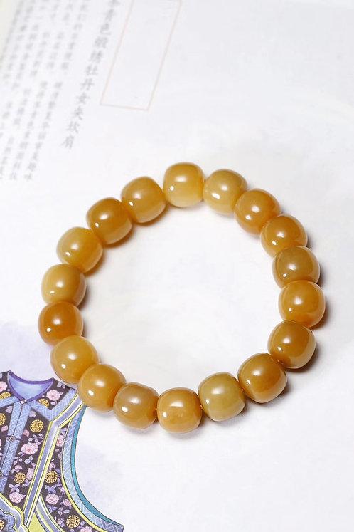 Caramel sugar brown Jade Bracelet