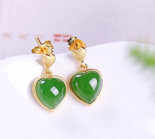 The Exemplary Jade - Cupid's Everlasting Love Earrings