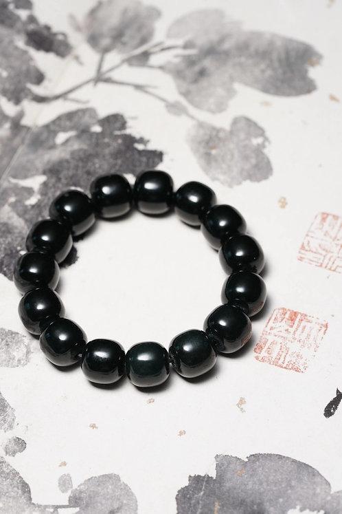 Mystery. Black Jade Bracelet