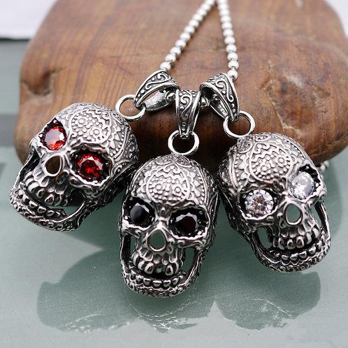 Titanium Steel 3D skull pendant