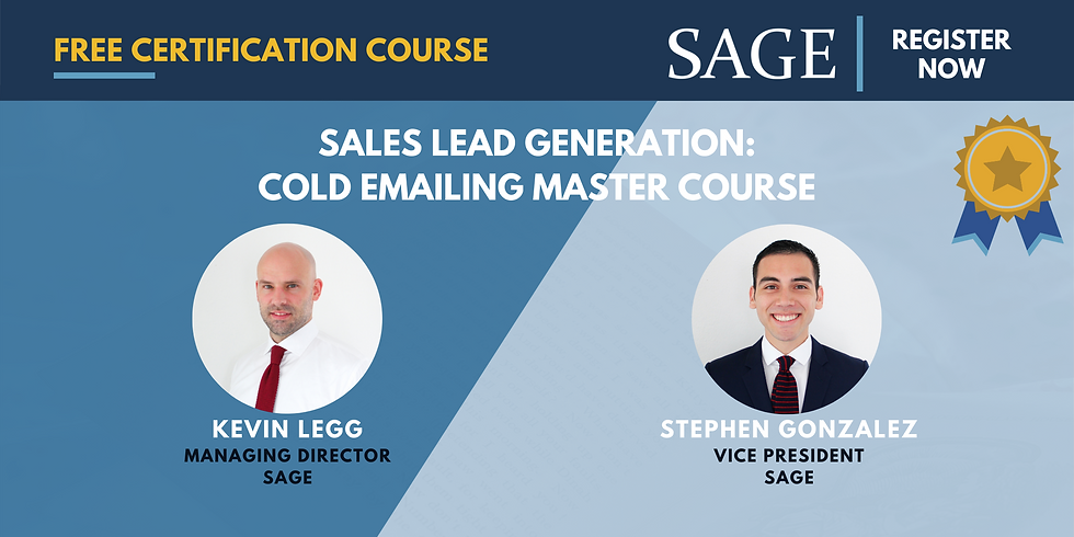 Sales Lead Generation: Cold Emailing Master Course