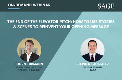 The End of the Elevator Pitch (Blog Cove