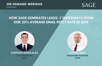 How SAGE Generates Leads - 3 Takeaways (