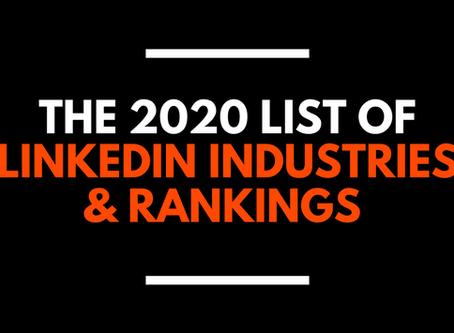 LinkedIn Industries List & Rankings (2020)
