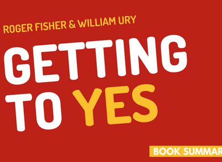 Book Summary: Getting To Yes