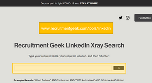 LinkedIn Xray Search by Recruitment Geek