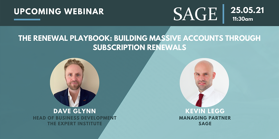 The Renewal Playbook: Building Massive Accounts Through Subscription Renewals
