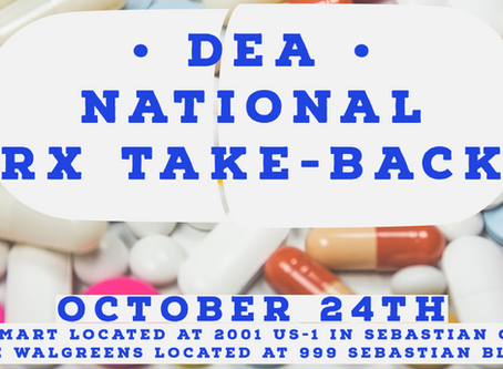 DEA National Rx Take Back October 24th
