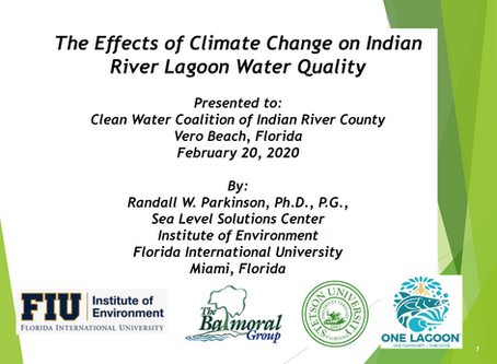 The Effects of Climate Change on Indian River Lagoon Water Quality