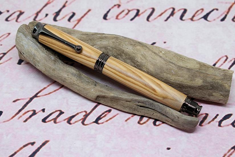 Edward in Olive wood with gunmetal trim