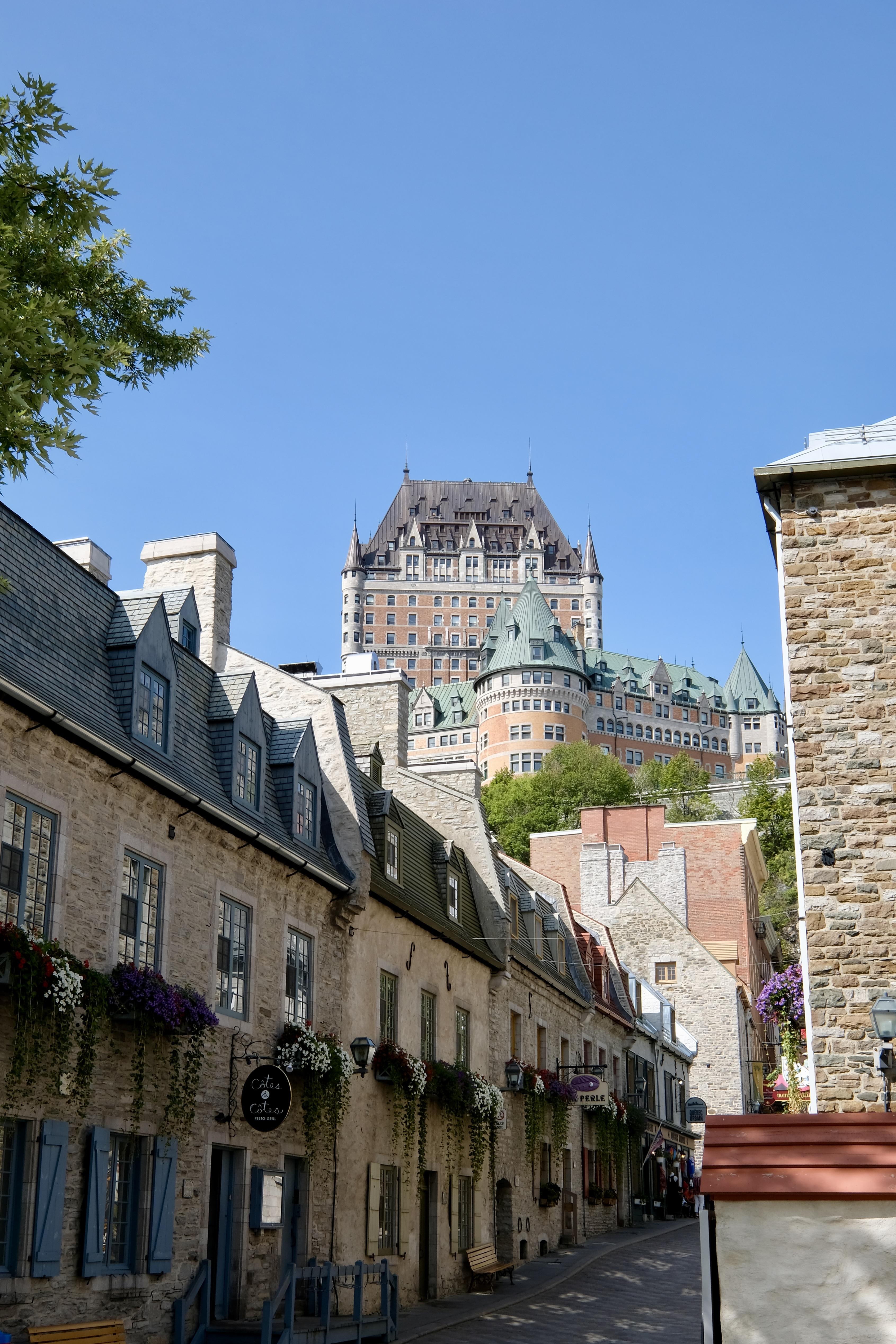 Vue depuis la basse-ville, Québec