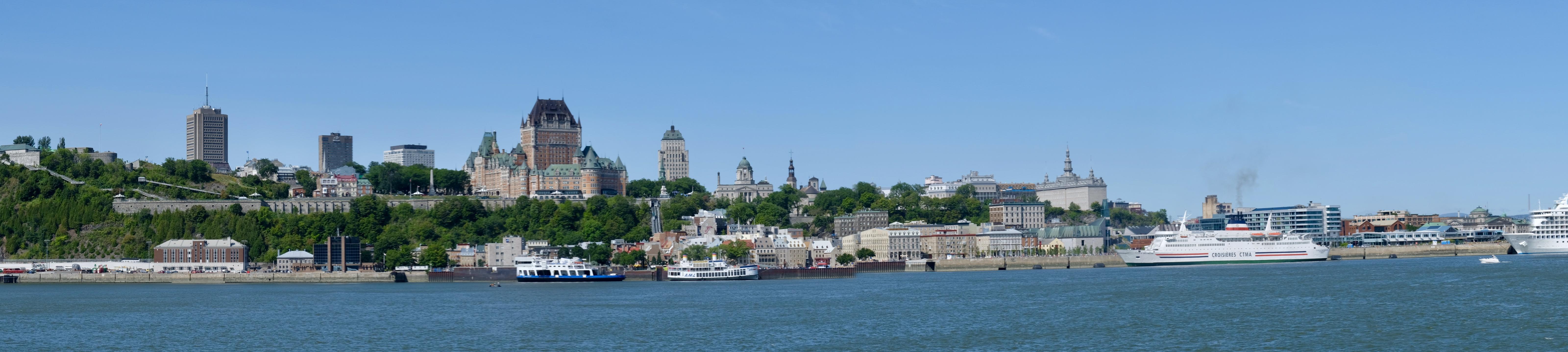 Vue de Québec depuis Levis-panorama