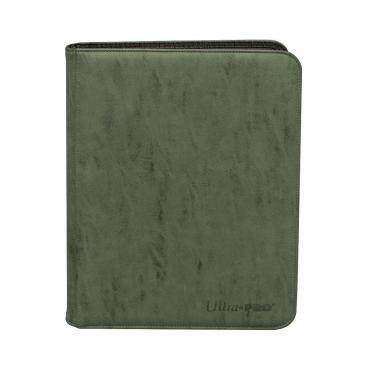 VÅR MEST HIGHEND Suede Collection Zippered 9-Pocket Premium PRO-Binder - Emerald