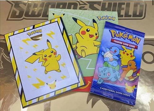 Pokemon 25th Anniversary McDonalds Promo TOY 4 Sealed RETT FRA CASE PÅ LAGER