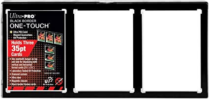 ULTRA PRO 35PT 3-CARD BLACK BORDER ONE TOUCH MAGNETIC CLOSURE