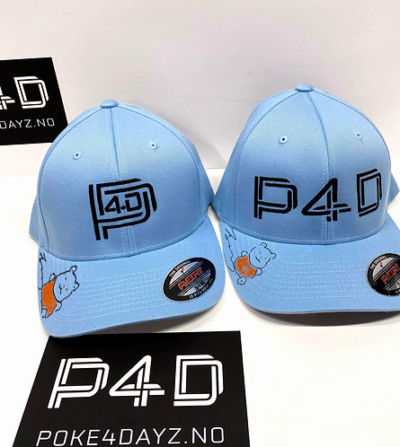 Limited 1st Edition P4D CAPS SIGNED SKETCHED BY MIDORI HARADA LYSE BLÅ