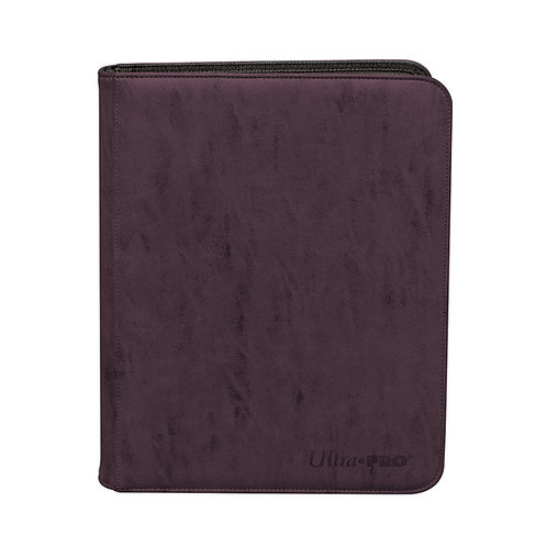 VÅR MEST HIGHEND PRO-BINDER Suede Coll Zippered 9-Pocket Premium Amethyst