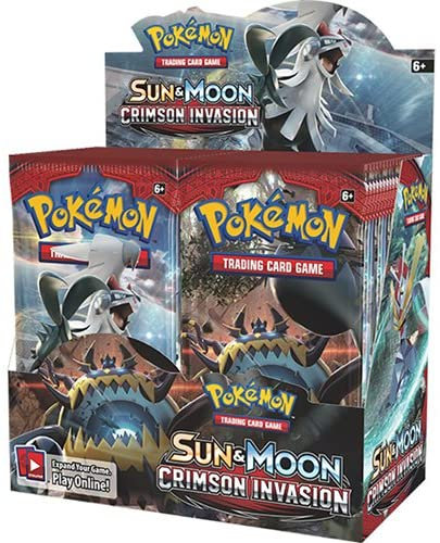 1 BOKS Sun and moon Crimson Invasion BOOSTER BOX 36 pakker per boks