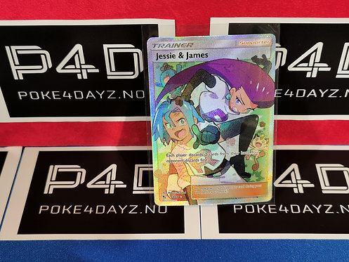 Jessie & James - 68/68 - Full Art Ultra Rare Sun & Moon: Hidden Fates Singles