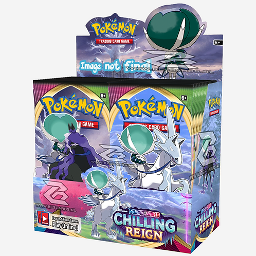 PRE ORDER Pokemon: Chilling Reign Booster boks 36 pakker Display Sealed