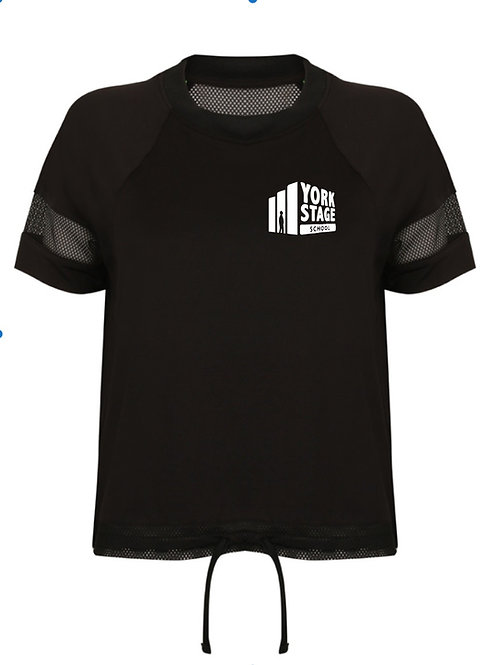 Black Mesh Back T-Shirt