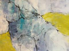 Tusche, Pigemente mit Acrylbinder. 70x50 cm  2019, © Christa Redik