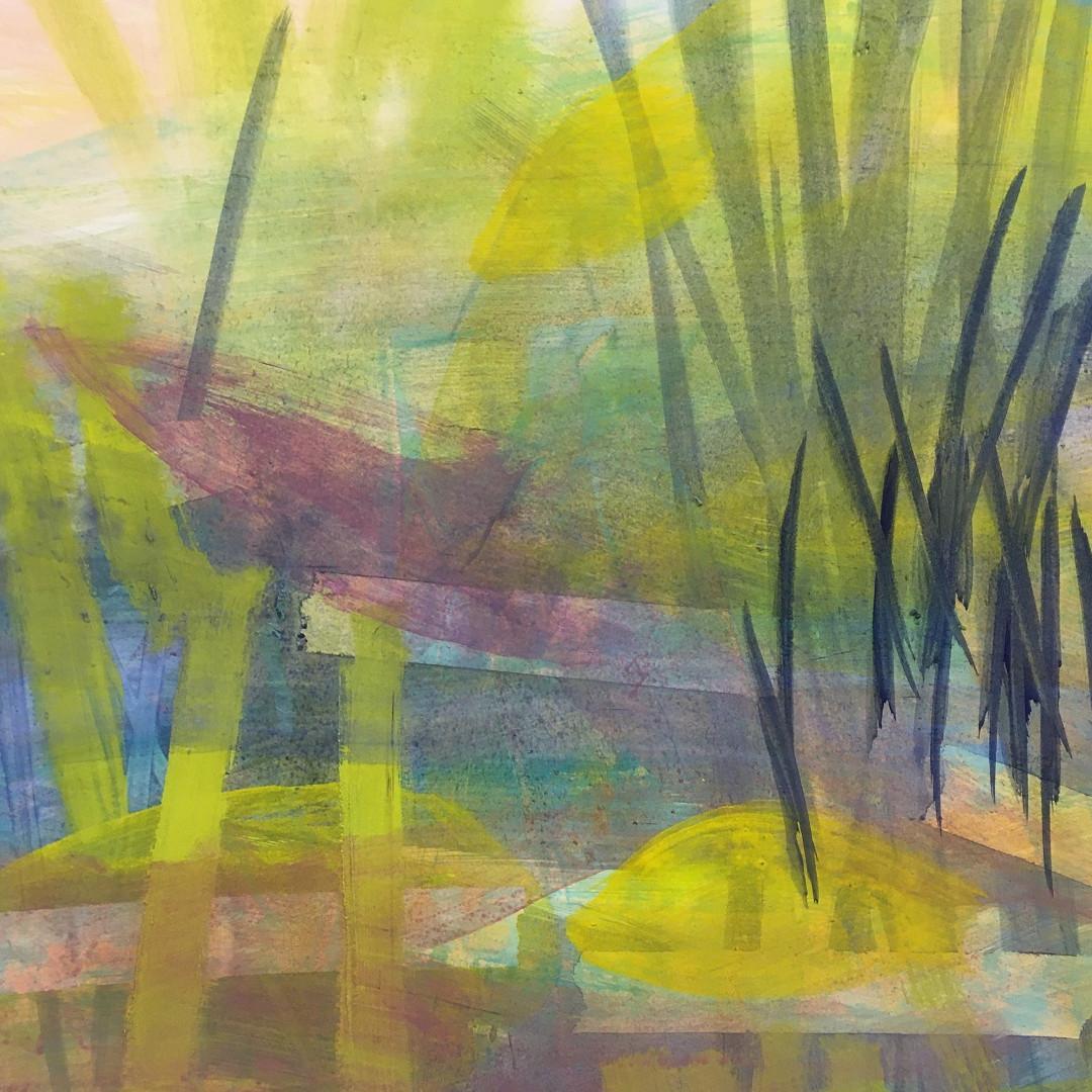 Pigmente mit Acrylbinder auf Papier. 50x70 cm  2019, © Christa Redik