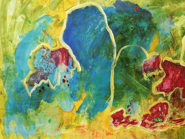 Acryl auf Papier, 50x70, 2013, Christa Redik