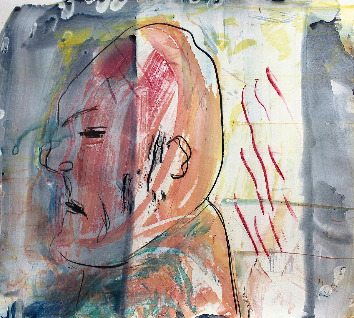 Acryl, Ölkreide auf Karton. 50x50 cm  2012, © Christa Redik