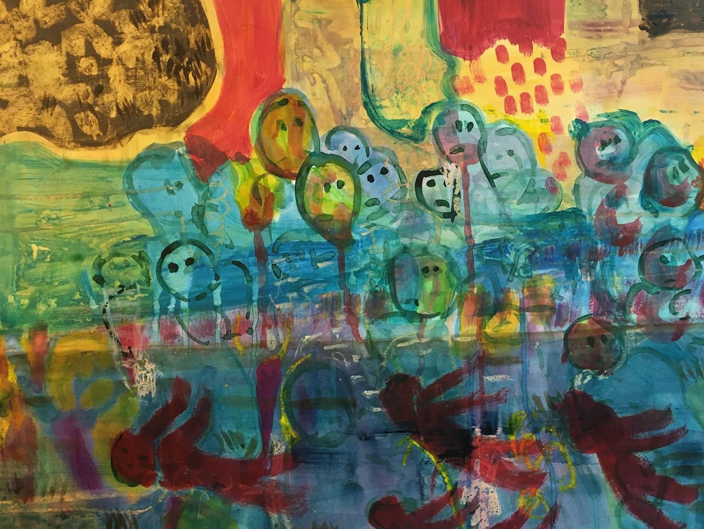 Acryl auf Papier. 70x50 cm  2015, © Christa Redik