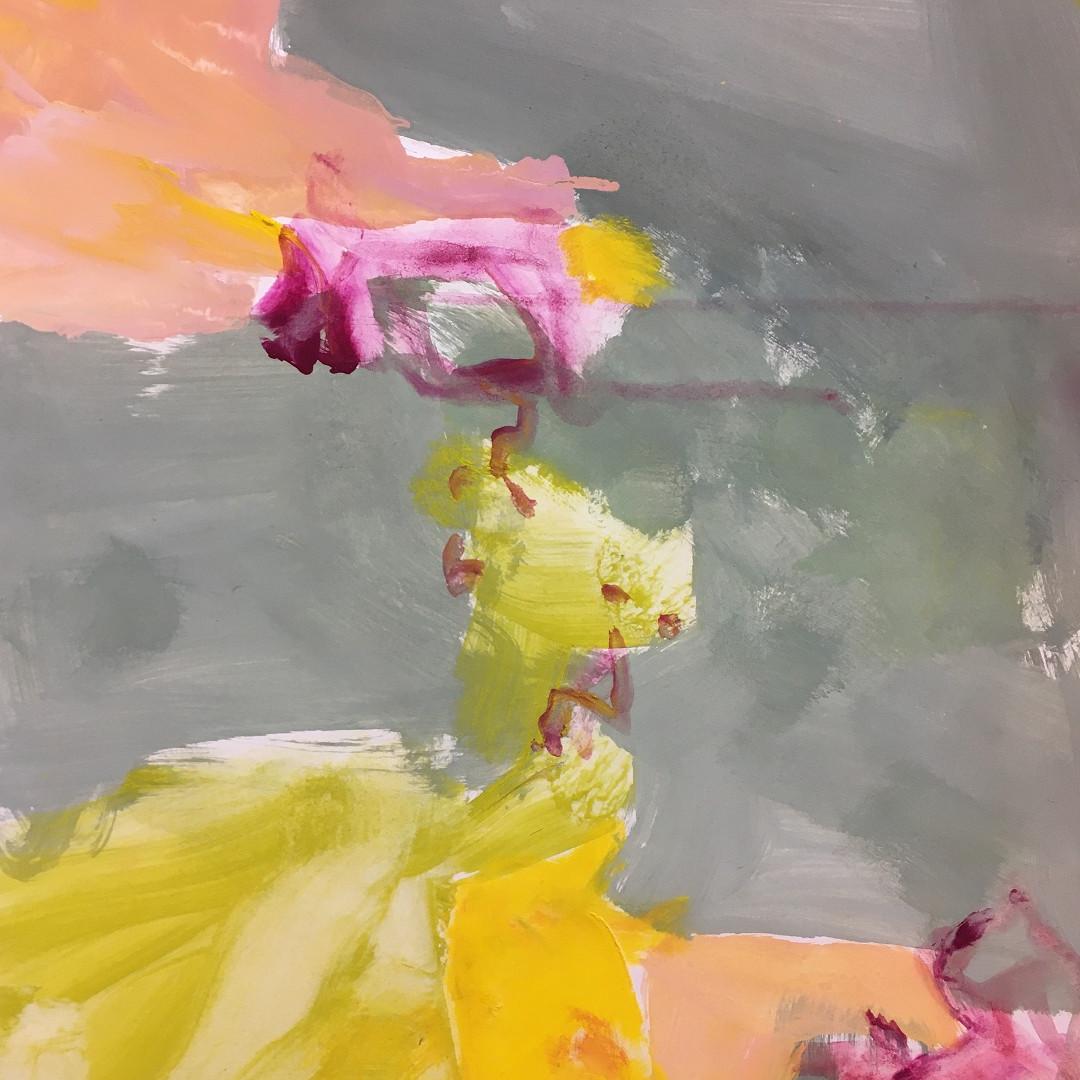Pigmente mit Acrylbinder auf Papier. 50x70 cm 2018, © Christa Redik
