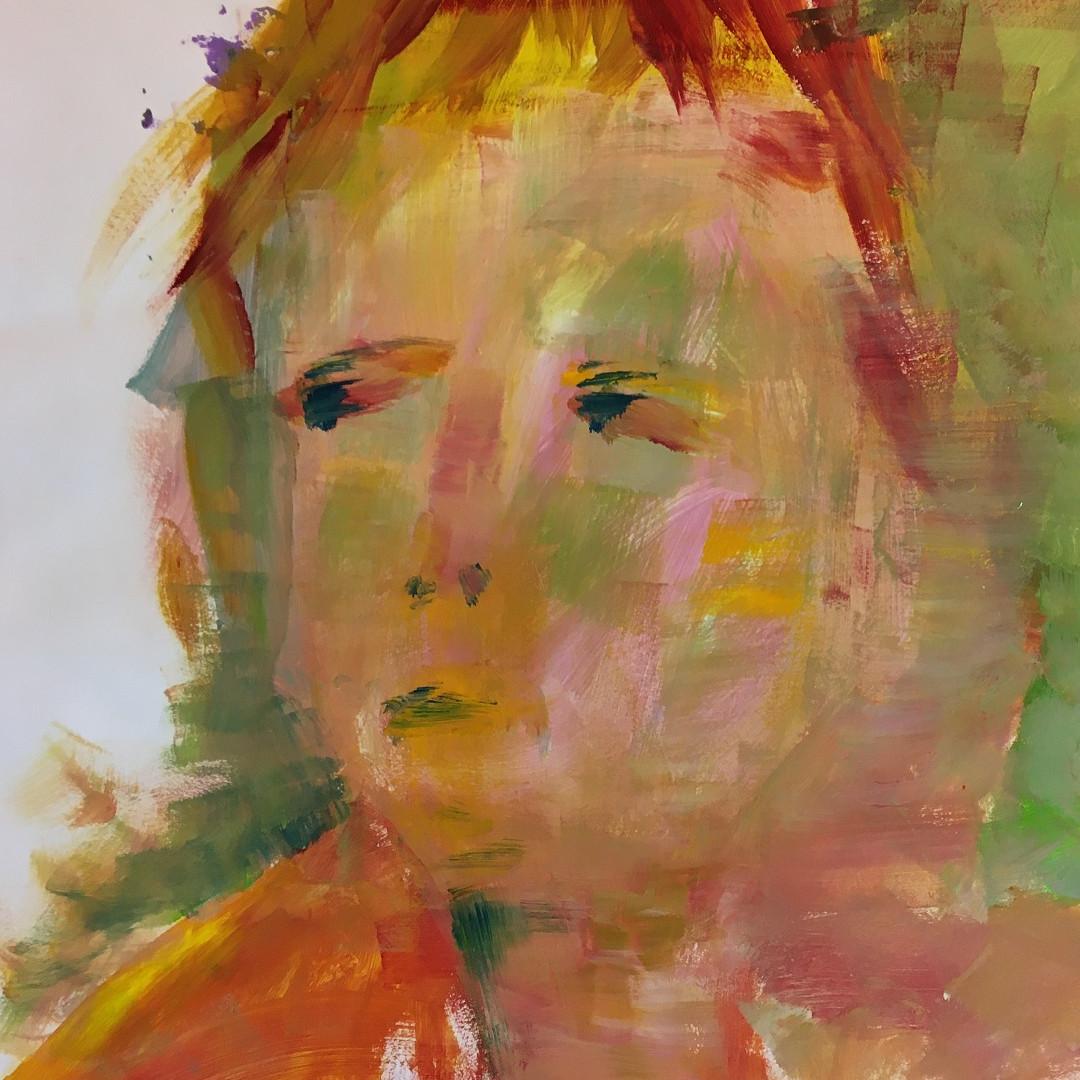 Pigmente mit Acrylbinder auf Papier. 40x60 cm 2018, © Christa Redik