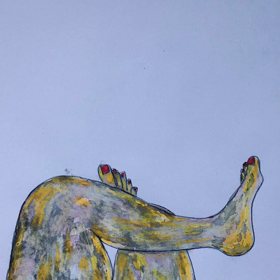 Ölkreide, Acryl, Graphit auf Papier. 50x70 cm  2014, © Christa Redik