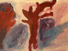 Acryl auf HDF-Platte. 45x20 cm  2012/13, © Christa Redik