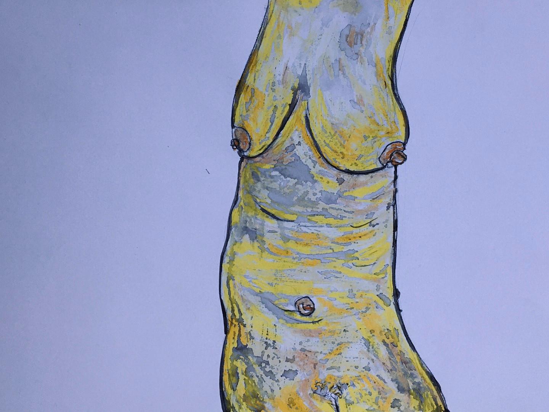 Ölkreide, Acryl, Graphit auf Papier. 70x50 cm  2014, © Christa Redik