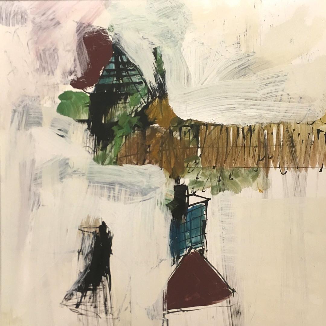 Pigmente mit Acrylbinder, Tusche auf Steinpapier. 30x30 cm 2019 © Christa Redik