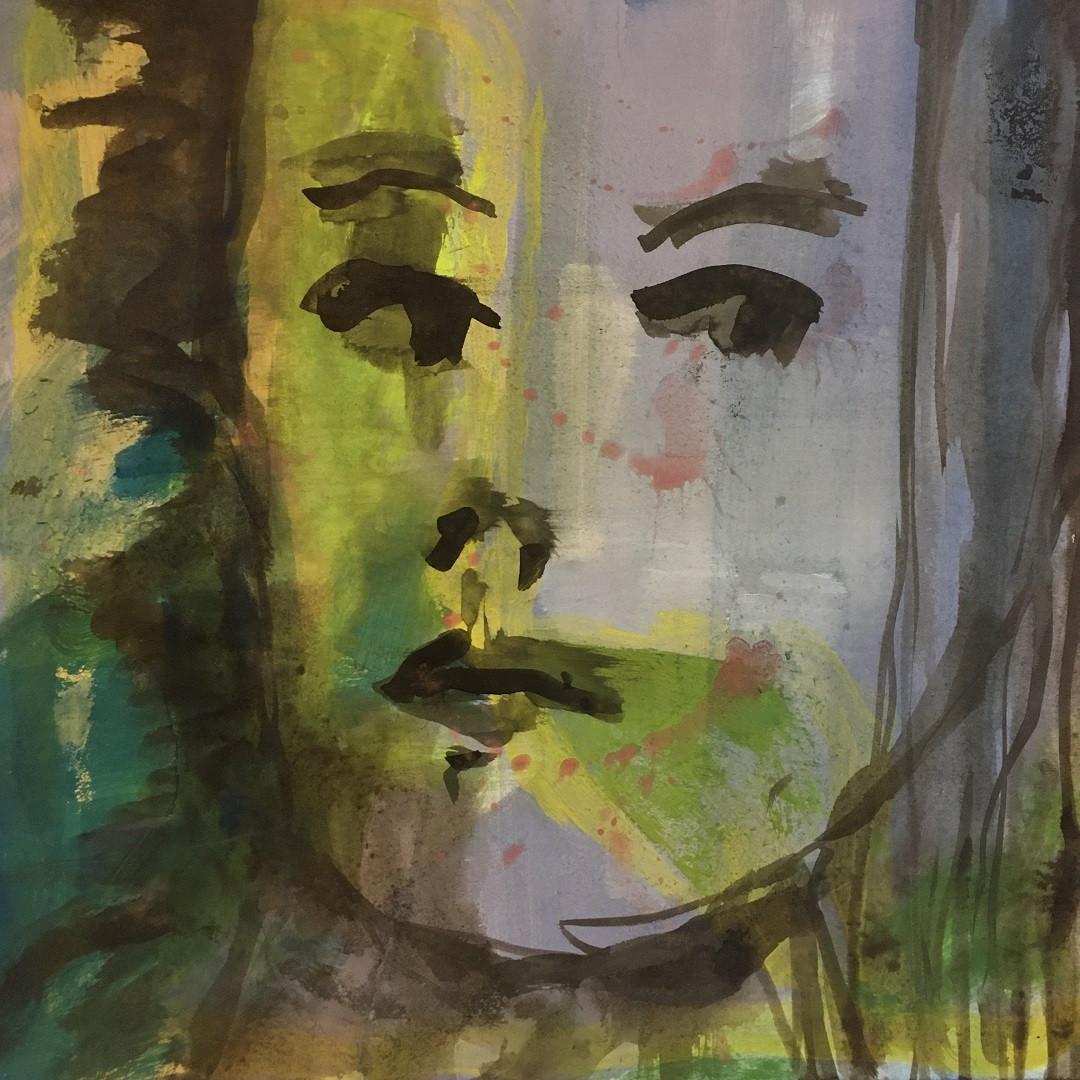 Pigmente mit Acrylbinder. 40x50 cm  2020, © Christa Redik