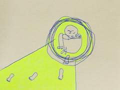Kugelschreiber und Marker auf Papier. 20x20 cm 2014/15, © Christa Redik