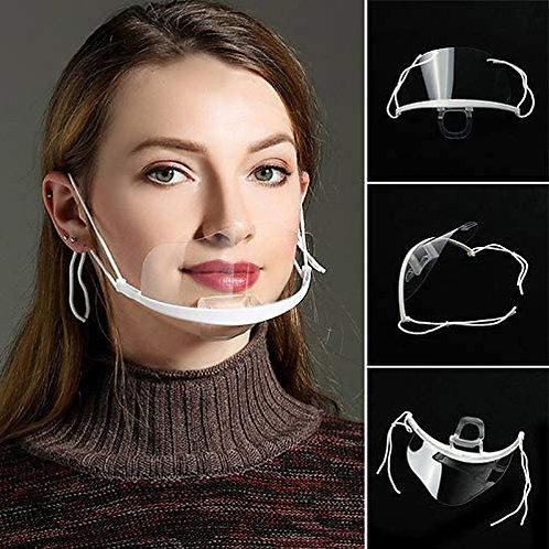 Mascherina protettiva in plastica Pack 4x