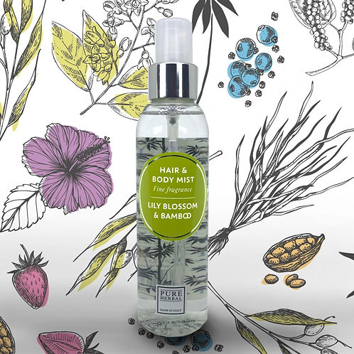 Hair and Body mist Pure Herbal Lily blossom and Bamboo 150 ml