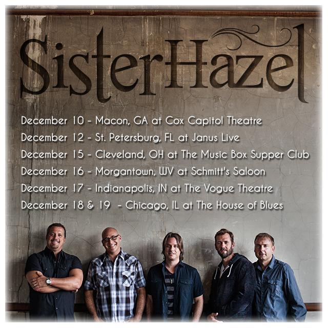 Sister Hazel December Tour graphic