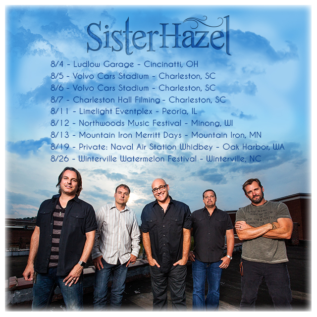 Sister Hazel August Tour graphic