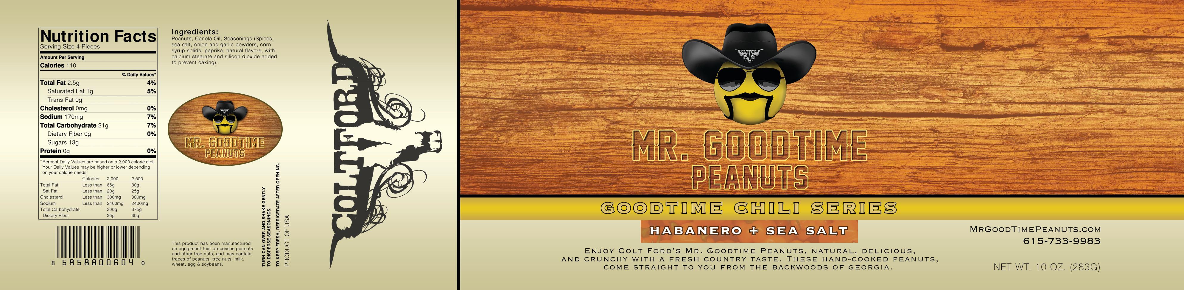 Mr. Gootime Peanuts Habanero and sea salt