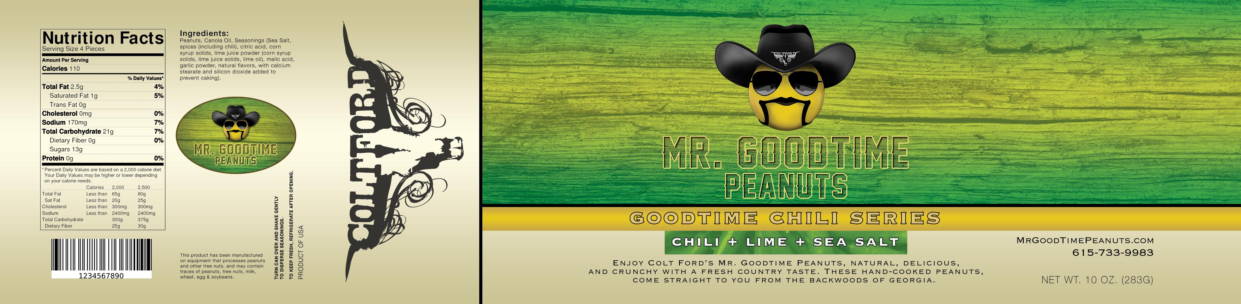 Mr. Gootime Peanuts Chili Lime and Sea Salt